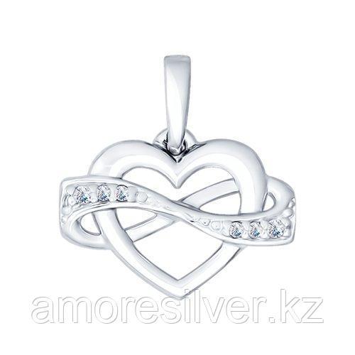 Подвеска из серебра с фианитами  SOKOLOV 94031764
