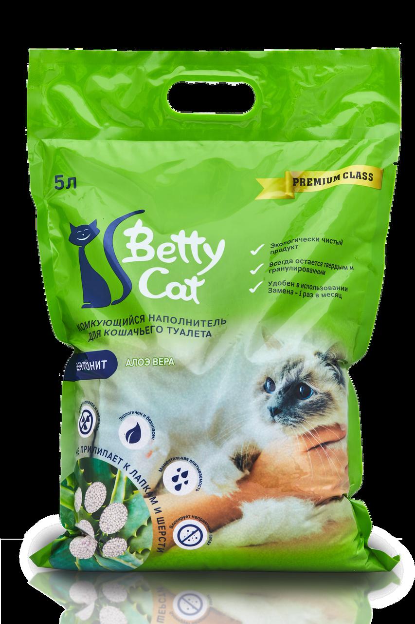 Betty Cat Комкующийся наполнитель Алоэ, 5 л