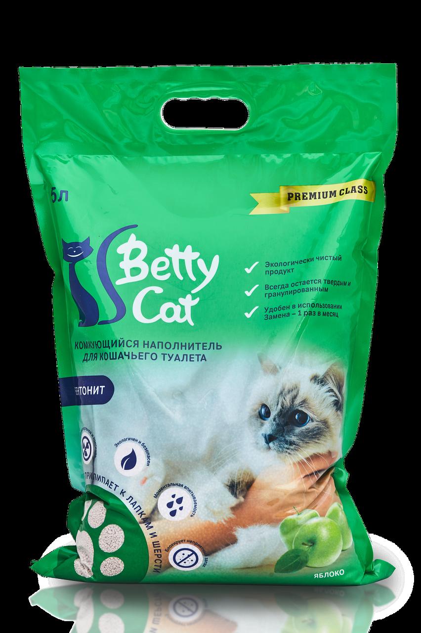 Комкующийся наполнитель Betty Cat (с ароматом яблока)