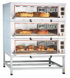 Шкаф пекарский подовый ЭШП-3КП электрический, 3 оцинк. камеры 1035x800x263(233) мм, пароувлажнение, нерж. ТЭН-, фото 2