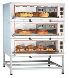 Шкаф пекарский подовый ЭШП-3-01 электрический, 3 нерж. камеры 1035x800x280(250) мм, пароувлажнение, нерж. ТЭН-, фото 2