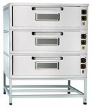 Шкаф пекарский подовый ЭШП-3-01КП электрический, 3 нерж. камеры 1035x800x263(233) мм, пароувлажнение, нерж. ТЭ, фото 2