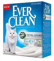 Ever Clean 6л, Total Cover с микрогранулами двойного действия комкующийся наполнитель для кошачьего туалета, фото 1
