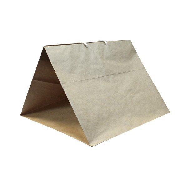 Пакет бумажный крафт (360+360)х290мм 78г/м2,. с веревочными ручками , 150 шт