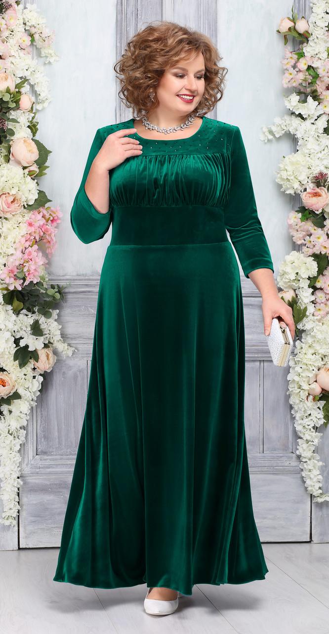 Платье Ninele-5754/2, изумруд, 54