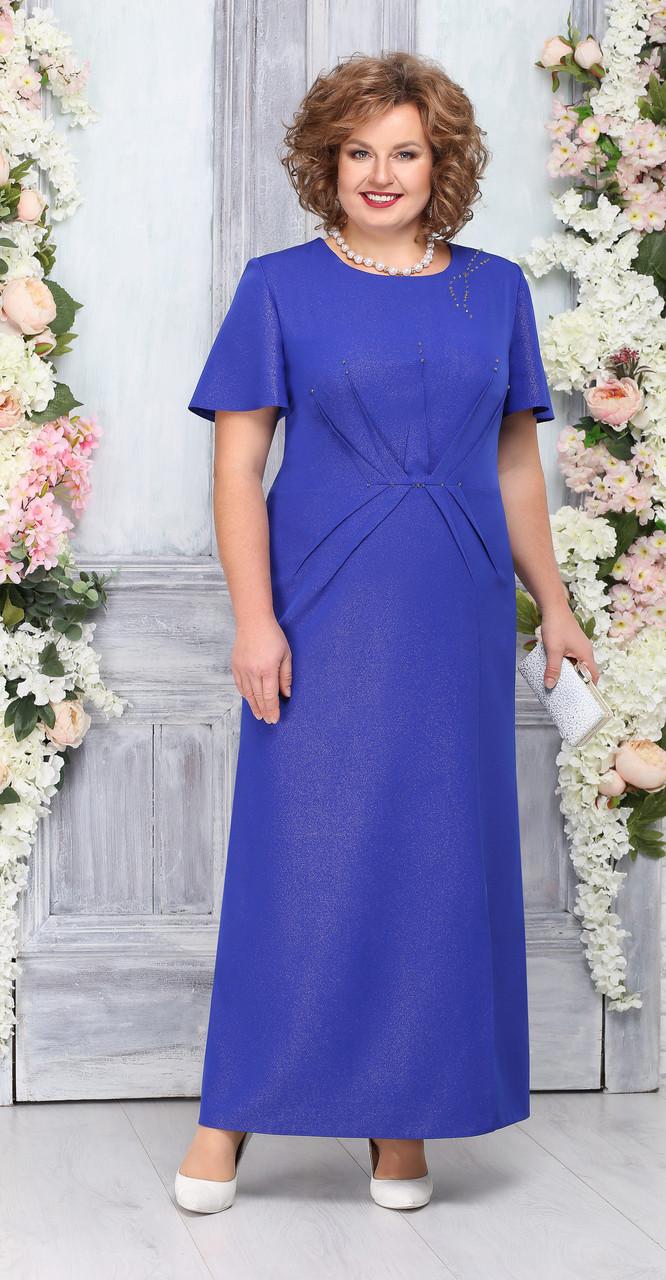 Платье Ninele-5756/3, василек, 56