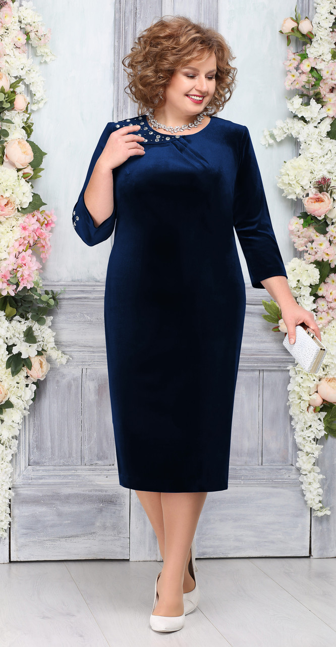 Платье Ninele-5757/4, темно-синий, 52