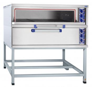 Шкаф пекарский подовый ЭШ-2К электрический, 2 пекарные камеры 1000х800х180 мм, нерж. ТЭН-ы, раздельная регулир