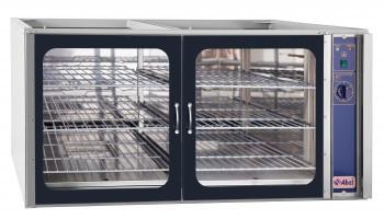 Шкаф расстоечный тепловой ШРТ-6ЭШ, 6 полок-решеток, стекл. дверь, част. нерж, с подставкой и крышкой, 1300x108