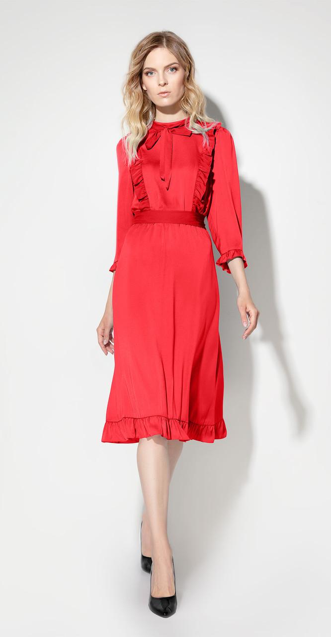 Платье Prio-707280/1, красный, 42