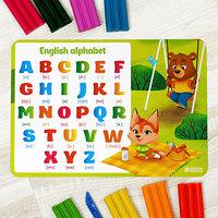 Коврик для лепки 'Английский алфавит', формат A4 (комплект из 2 шт.)