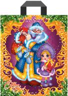 "Пакет (мешок) петля ПВД 340х280мм, 60мкм, ""Дед Мороз с подарками"", 25 шт"