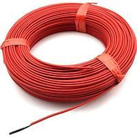 Нагревательный кабель тефлон углеродного волокна 24к/17 Ом
