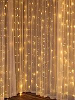 """Светодиодная гирлянда """"Водопад"""" - 3X2 метра, 240 лампочек, тёплый свет, синхронная работа"""