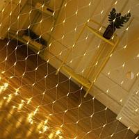 "LED Гирлянда ""Сетка"" - 3Х3 метра, 320 лампочек, белый свет, мерцает, для улицы и помещений"