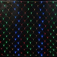 """Гирлянда светодиодная """"Сетка"""" - 1.5Х1.5 метра, разноцветная, мерцает"""