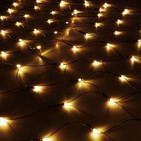 "Гирлянда светодиодная ""Сетка"" - 1.5Х1.5 метра, тёплый свет, мерцает"