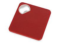 Подставка для кружки с открывалкой Liso, черный/красный