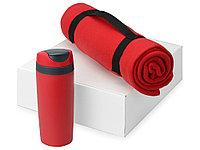 Подарочный набор Cozy с пледом и термокружкой, красный