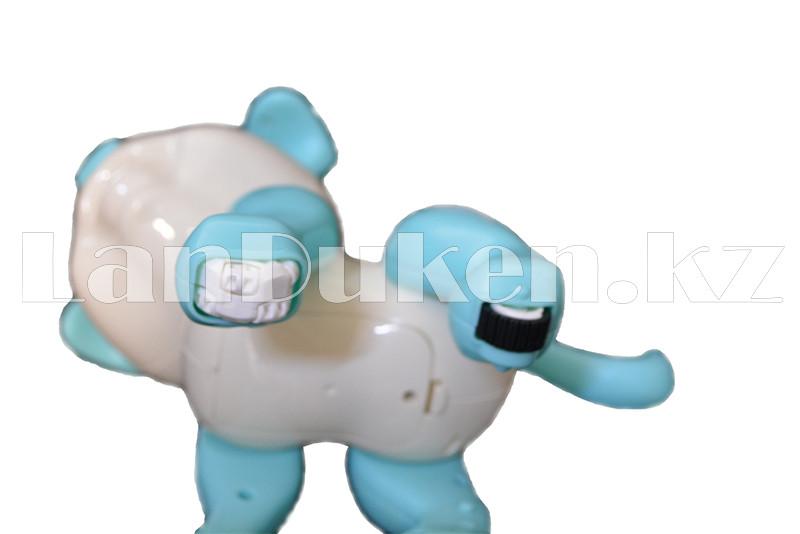 Игрушка робот-собака на батарейках говорящая светящаяся радиоуправляемая B177010 - фото 5