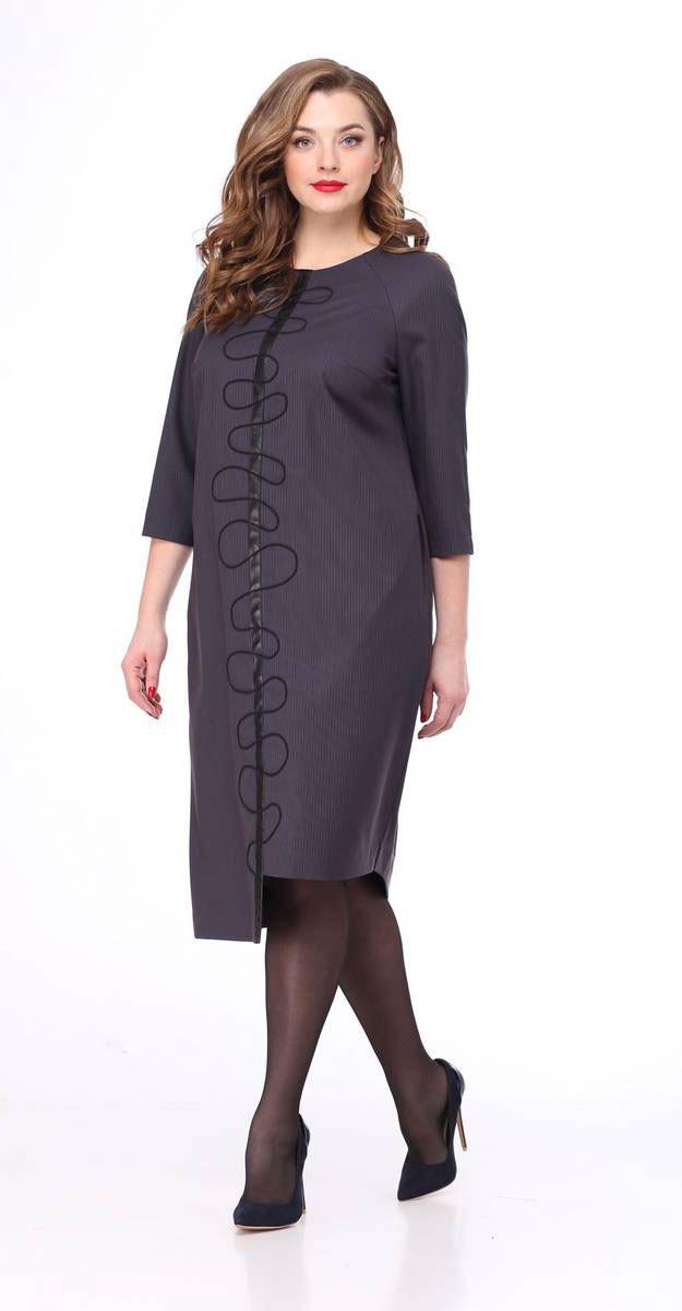 Платье Mali-4123, темный оттенок-полоска, 50