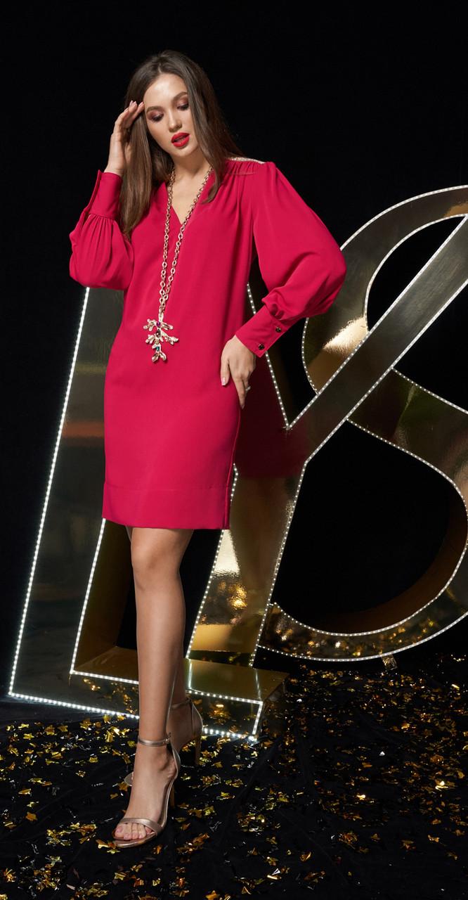 Платье Люше-2193ф, красный, 46