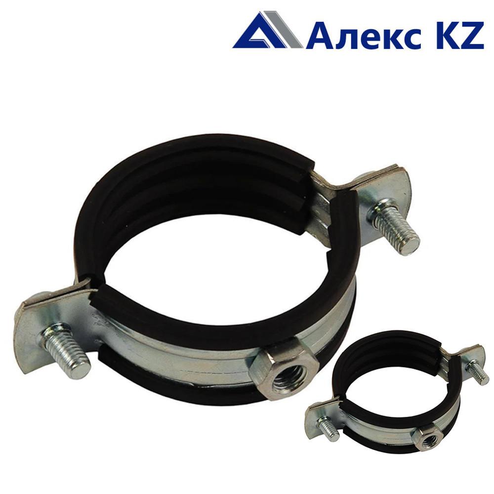 Хомут сантехнический  металлический с резиновой прокладкой 3/4 М8 (26-30) в комплекте