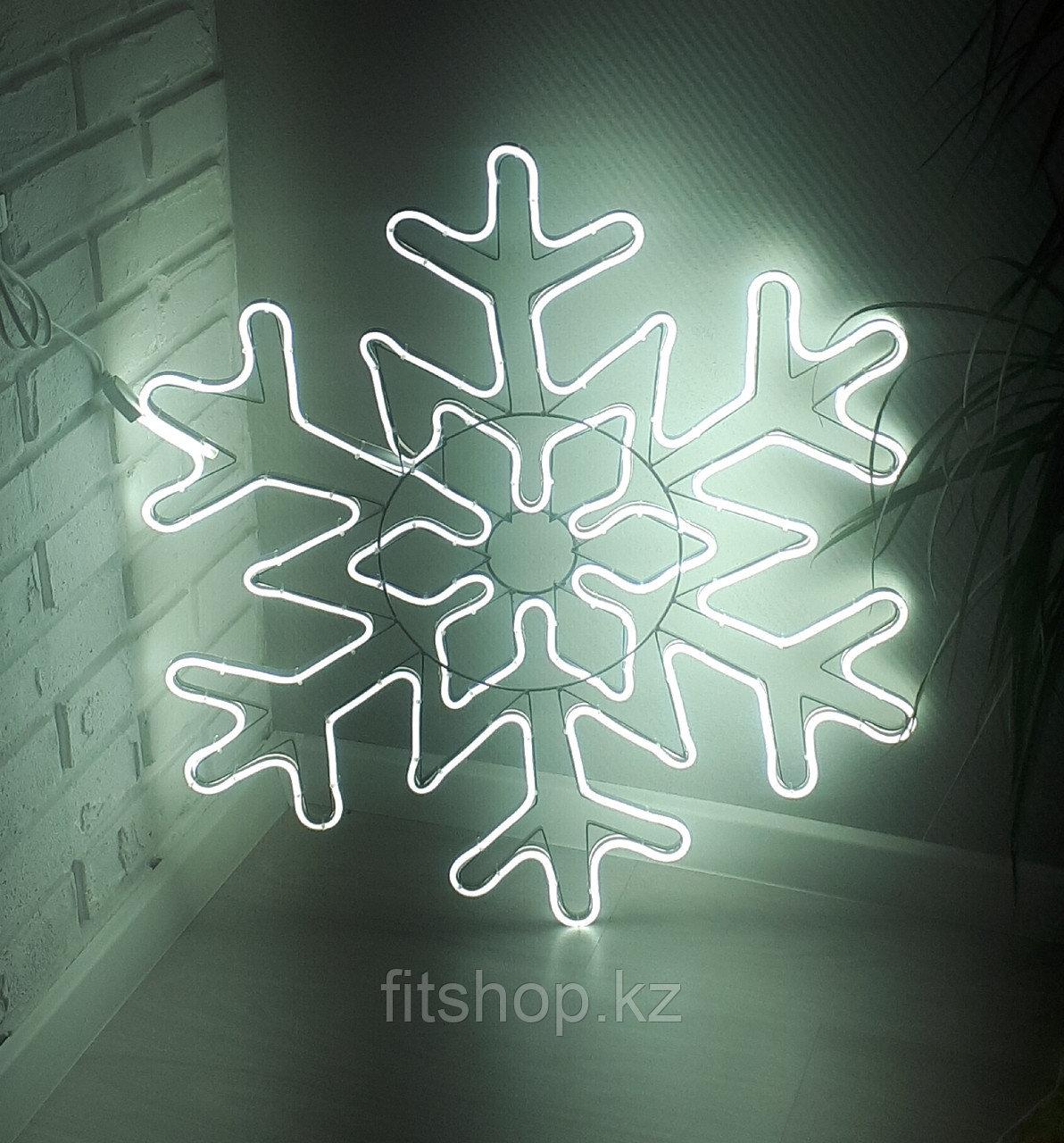 """Новогодняя светодиодная фигура """"Снежинка"""" - 78 х 78 см флекс -неон  двухсторонняя"""
