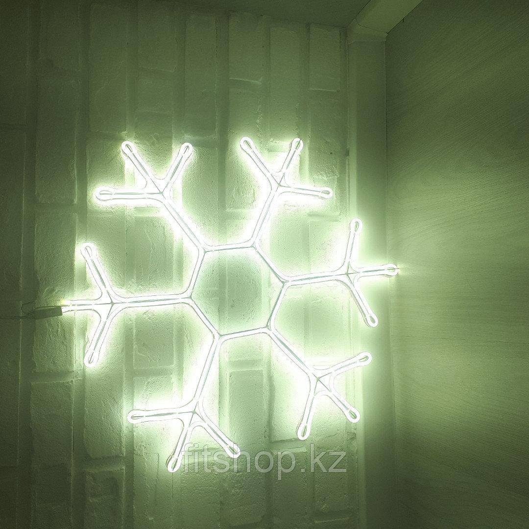 """Новогодняя светодиодная фигура """"Снежинка"""" - 60 х 60 см флекс -неон  двухсторонняя"""