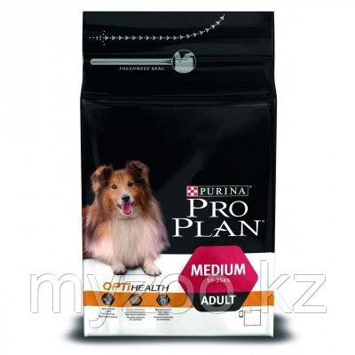 Pro Plan Medium Adult, Про План для взрослых собак с курицей, уп. 14кг.