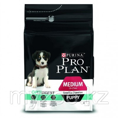 Pro Plan Medium Puppy Sensitive Digestion, корм для щенков с чувствительны пищеварением, ягненок/рис, уп. 12кг