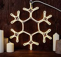 """Новогодняя светодиодная фигура """"Снежинка"""" - 40 х 40 см (дюралайт, белый свет)"""