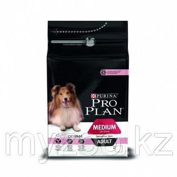 Pro Plan Medium Adult Sensitive, Про План для собак с чувствительной кожей, лососьрис, уп.14 кг.
