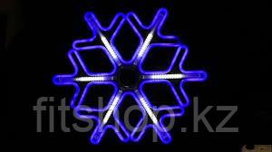 """Новогодняя светодиодная фигура """"Снежинка"""" - 40 х 40 см (дюралайт, синий цвет)"""