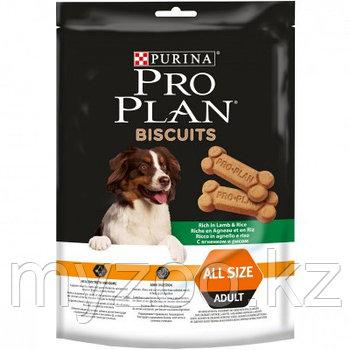Pro Plan Biscuits, Про План Печенье с ягненком, лакомство для собак всех пород, уп. 400гр.