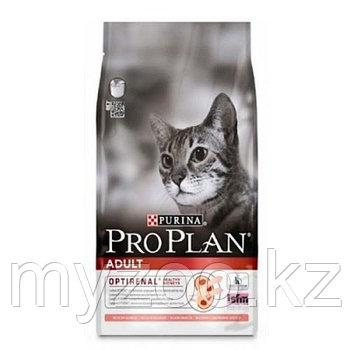 PRO PLAN ADULT, Про План Адалт для кошек с лососем и рисом, уп 400 гр.