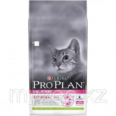 Pro Plan Delicate, Про План Деликейт, корм для кошек с чувствительным пищеварением, с ягненком, уп. 400гр.