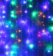 Светодиодный уличный занавес Дождь (Плей Лайт) 3*3 м фиолетовый/зеленый/желтый/красный/белый