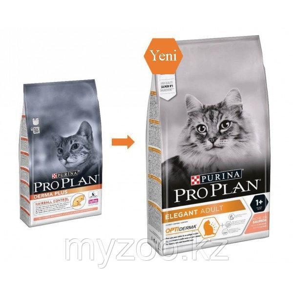 Pro Plan Derma Plus c лососем, уп. 10 кг. | Про План Дэрма Плюс с проблемами кожи и шерсти у кошки |