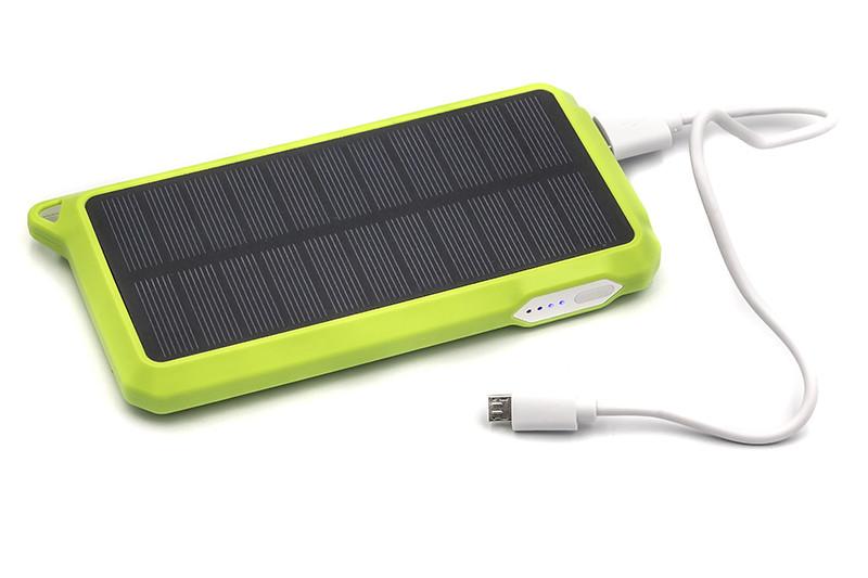 Универсальная cолнечная мобильная батарея PowerPlant/PB-SS002/10000mAh/green
