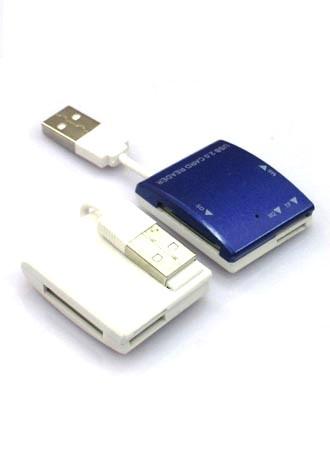 Кард-ридер PowerPlant 4-х слотный: с кабелем MS, SD, M2, HC