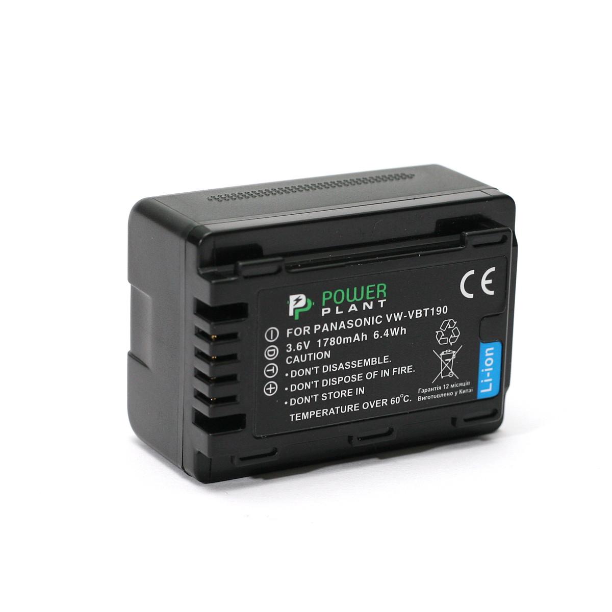 Аккумулятор PowerPlant Panasonic VW-VBT190 1780mAh