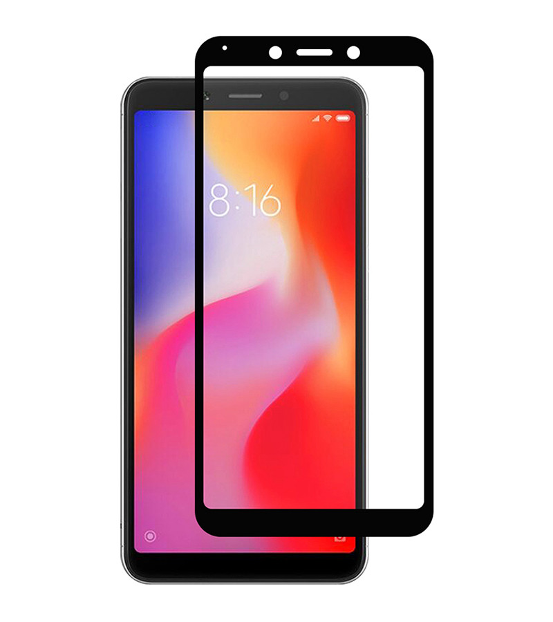Защитное стекло Full screen PowerPlant для Xiaomi Redmi 6, Black
