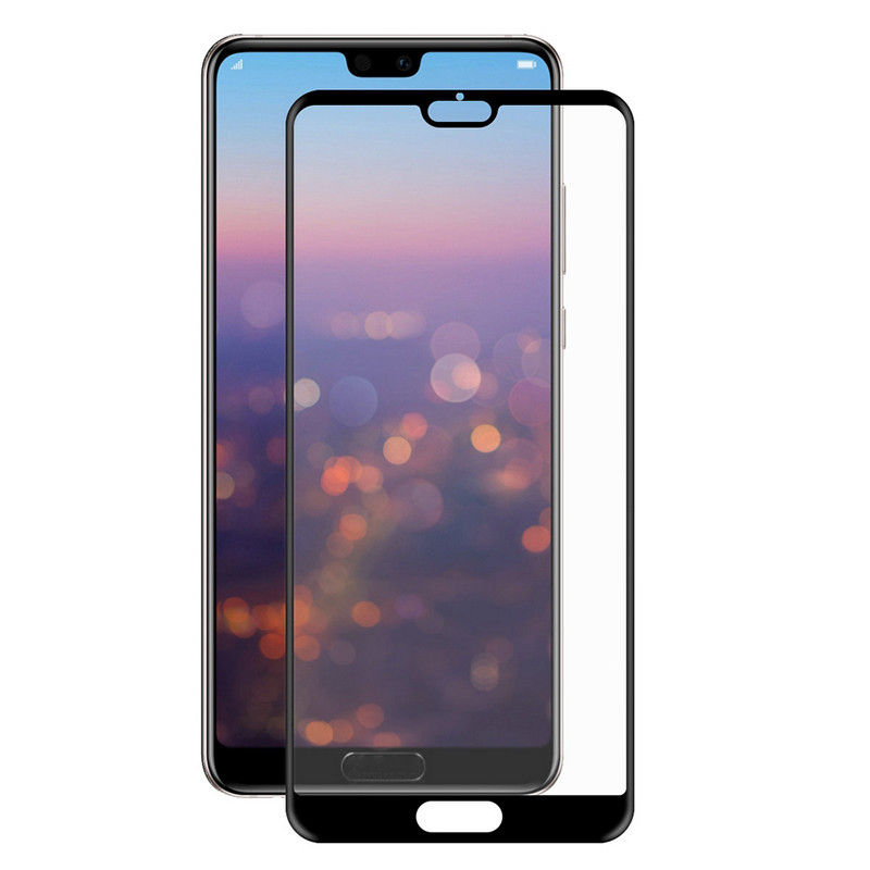 Защитное стекло Full screen PowerPlant для Huawei P20, Black
