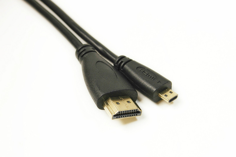 Видео кабель PowerPlant HDMI - micro HDMI, 2m, позолоченные коннекторы, 1.4V