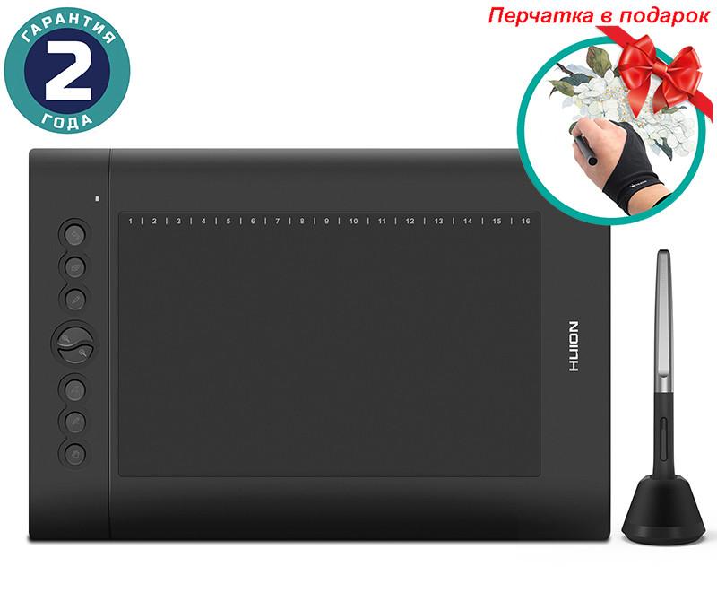 Графический планшет Huion H610Pro V2 + перчатка