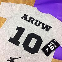Именные футболки с номером. Пленка флекс, А4 формат нанесения