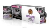 Pro Plan NutriSavour Delicate, для чувствительных кошек с индейкой в соусе, уп. 24*пауч 85гр.