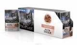 Pro Plan NutriSavour Housecat, для домашних кошек с лососем в соусе, уп.24*пауч. 85гр.