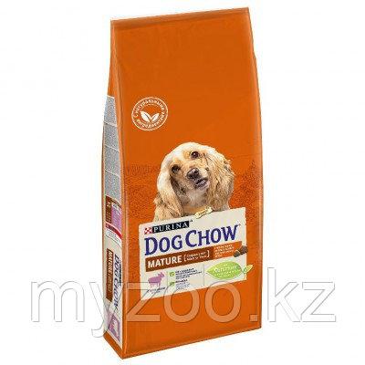 Dog Chow Mature Adult 5+, 14 кг Дог Чау корм с ягненком для собак старше 5 лет